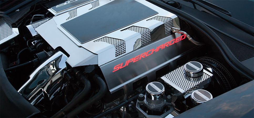 2015-2019 Z06 Stingray Corvette - Fuel Rail Covers SUPERCHARGED w/ Illumination American Car Craft
