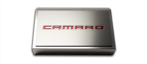 2016-2018 Camaro - Fuse Box Cover & 'CAMARO' Top Plate | Stainless Steel, Choose Color