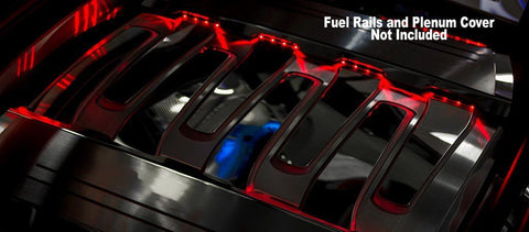 2016-2020 Chevy Camaro - Illuminated Fuel Rail Kit 2Pc | Choose LED Color