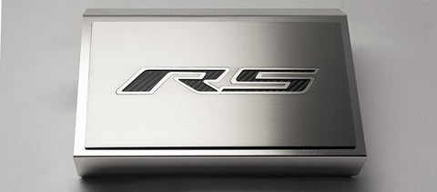 2016-2020 V6 RS Chevy Camaro - Fuse Box Cover & Top Plate 'RS' Style | Choose Finish & Color Inlay