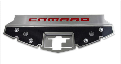 2016-2020 Camaro - Carbon Fiber Front Header Plate CAMARO Style | Choose Color Inlay