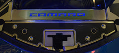 2016-2020 Camaro - Illuminated Carbon Fiber Front Header Plate CAMARO Style | Choose LED Color