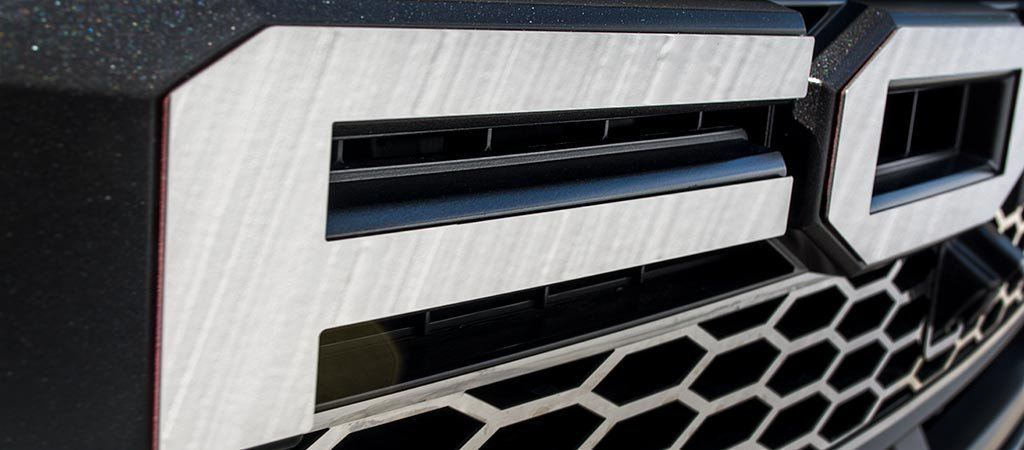 2017-2018 Ford Raptor - Ford Grille Letters | Polished or Brushed American Car Craft