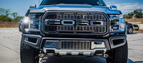 2017-2018 Ford Raptor - 'FORD' Front Grille Letters | Premium Stainless Steel, Choose Finish