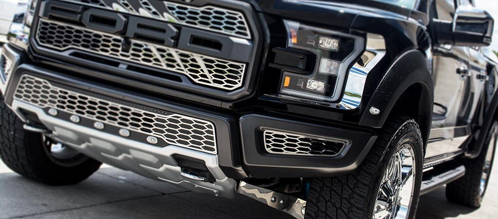 2017 - 2018 Ford Raptor Front Lower Bumper Leaf Grilles American Car Craft
