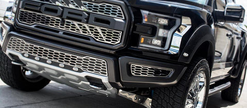 2017 - 2018 Ford Raptor Front Lower Bumper Leaf Grilles