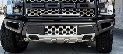2017-2018 Ford Raptor - Front Lower Grille Overlay | Stainless Steel, Choose Finish