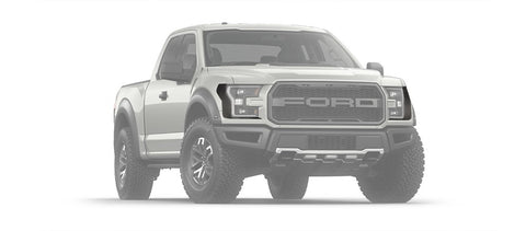 2017-2018 Ford Raptor Headlight Carbon Fiber Wrap 2Pc