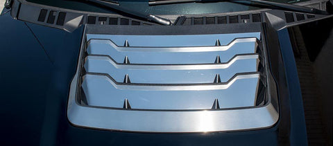 2017-2018 Ford Raptor - Hood Vent Grille Trim | Stainless Steel, Choose Finish