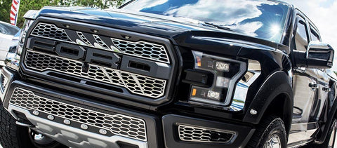 2017 - 2018 Ford Raptor - Slash Style Upper Grille Overlays American Car Craft
