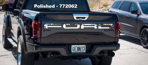 2017 - 2018 Ford Raptor - Stainless Steel Tailgate Letters American Car Craft