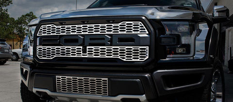 2017 - 2018 Ford Raptor - Stainless Steel Upper Grille Overlays American Car Craft