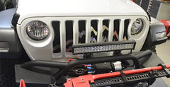 2018-2020 Jeep Wrangler JL - Front Grille Mountain Peaks Style | Brushed Stainless Steel