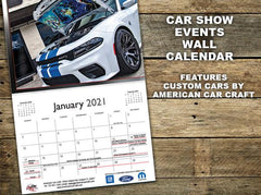 2021 Wall Calendar | American Car Craft Car Show Edition