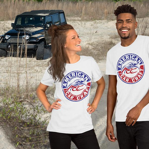 American Car Craft Emblem Style Short-Sleeve Unisex T-Shirt American Car Craft
