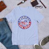 American Car Craft Emblem Style Short-Sleeve Unisex T-Shirt American Car Craft Heather Blue