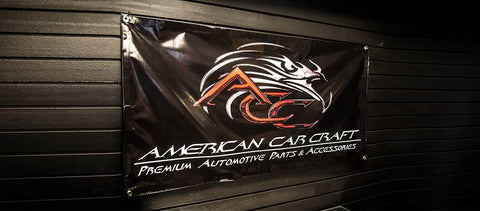 American Car Craft Garage Banner