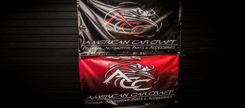 American Car Craft Garage Banner American Car Craft