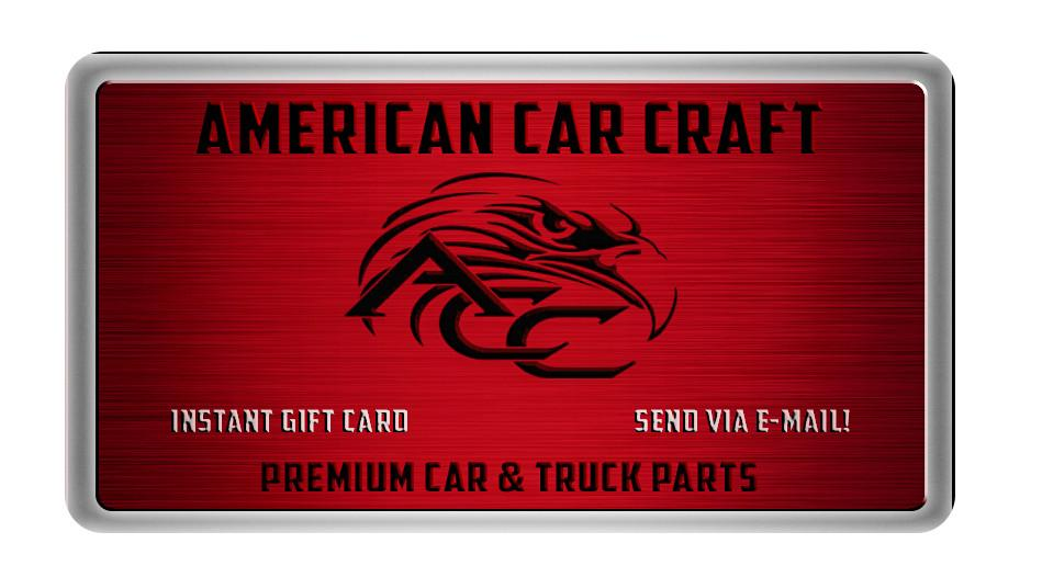 American Car Craft Gift Card American Car Craft