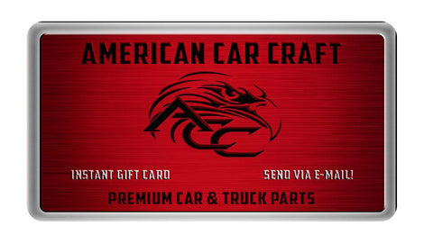 American Car Craft Gift Card