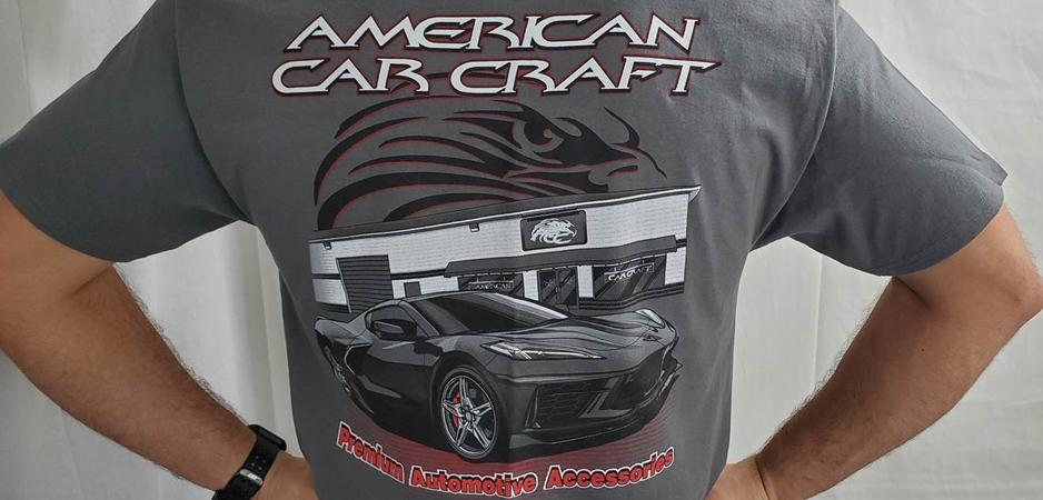 American Car Craft Limited Edition C8 Corvette Tee Shirt Apparel