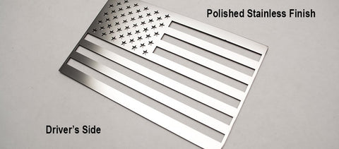 American Flag Emblem | (1) or (2) Piece Set American Car Craft