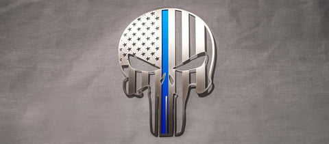 "American Pride Patriot Skull Emblem | 1PC, 6"" American Car Craft"