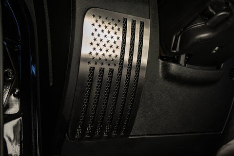 2007-18 Jeep Wrangler JK/JKU - American Pride US Flag Speaker Grilles 2Pc | Choose Finish
