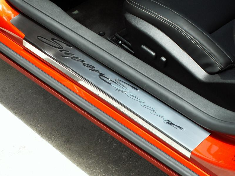 "Camaro Doorsills Brushed/Polished ""Super Sport"" 2Pc Outer 2010-2015 American Car Craft"