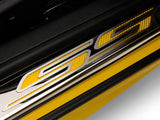 "Camaro Doorsills Brushed/Polished w/Carbon Fiber ""SS"" 2Pc Outer 2010-2015 American Car Craft"