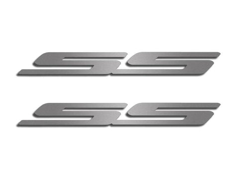 "Camaro Exterior ""SS"" Stainless Steel Emblem Set Brushed  2Pc"