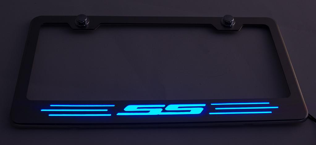 "Camaro License Plate Frame with ""SS"" Lettering American Car Craft"