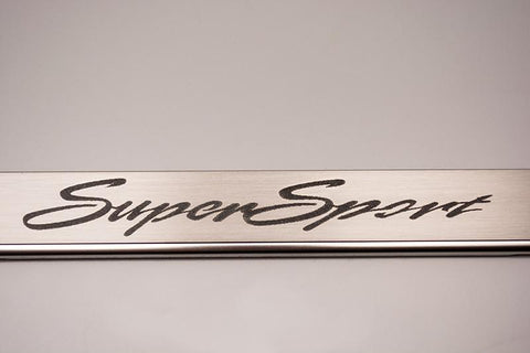 "Camaro License Plate Frame  with ""Super Sport"" Etched"