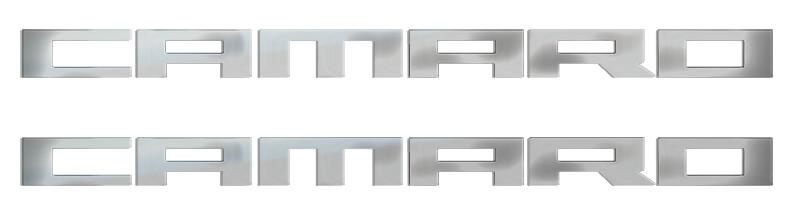 Camaro Polished Stainless Emblems 2pc American Car Craft
