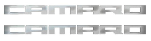 Camaro Polished Stainless Emblems 2pc