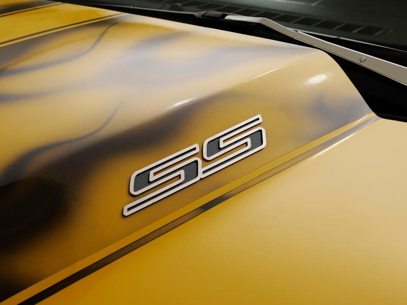 Camaro SS Emblems in Polished Stainless Steel and Faux Carbon Fiber 2Pc American Car Craft