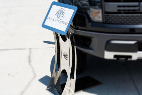 Car Show Display Stand with Optional Storage Bag | Durable Stainless Steel