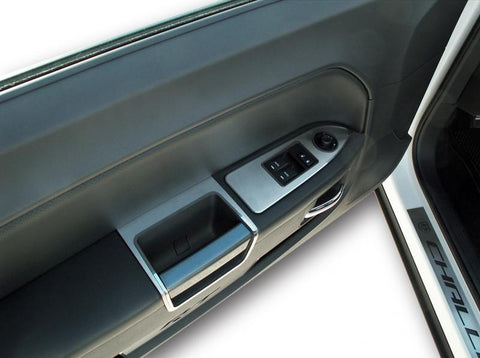 Challenger 5.7 and SRT 8 Door Arm Control Trim Brushed 2pc 2008-2014