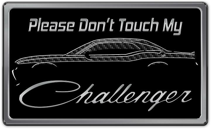 Challenger Dash Plaque - Stainless Steel with High-Def Metallic Print American Car Craft