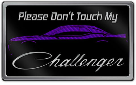 Challenger Dash Plaque - Stainless Steel with High-Def Metallic Print
