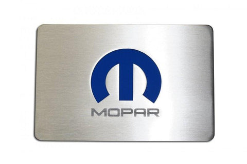 2008-15 Challenger/2005-15 Charger - Brushed Fuse Box Cover Plate with MOPAR M Logo