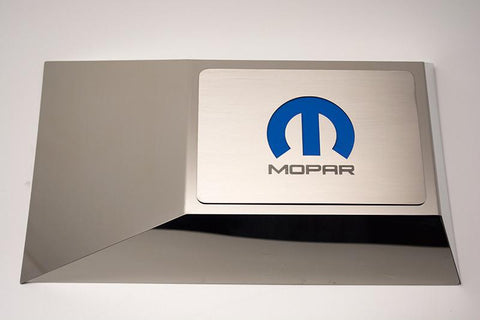 2008-15 Challenger/2005-15 Charger Brushed Fuse Box Cover Plate with MOPAR M Logo