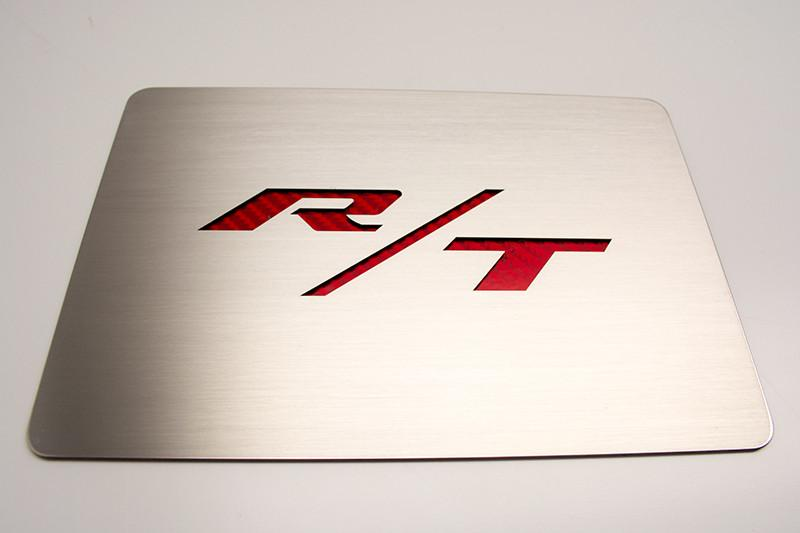 Challenger/Charger Brushed Fuse Box Cover Plate with R/T Lettering American Car Craft