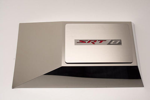 Challenger/Charger Brushed Fuse Box Cover Plate with SRT 8 Logo American Car Craft