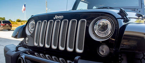 Chrome Mesh Grille Stainless Steel (07-18 Jeep Wrangler JK) American Car Craft