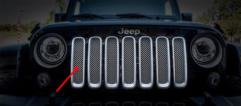 Chrome Mesh Grille Stainless Steel (07-18 Jeep Wrangler JK)