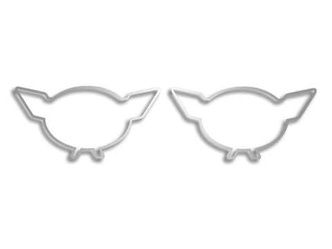 Corvette C5 Emblem Trim 2Pc 1997-2004 C5 & Z06 American Car Craft