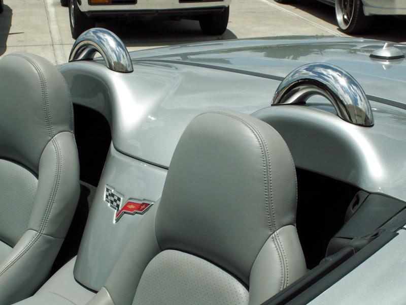 Corvette C6 Convertible Faux Roll Bars American Car Craft