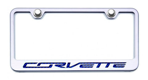 "Corvette C6 License Plate Frame with ""Corvette"" Lettering American Car Craft"