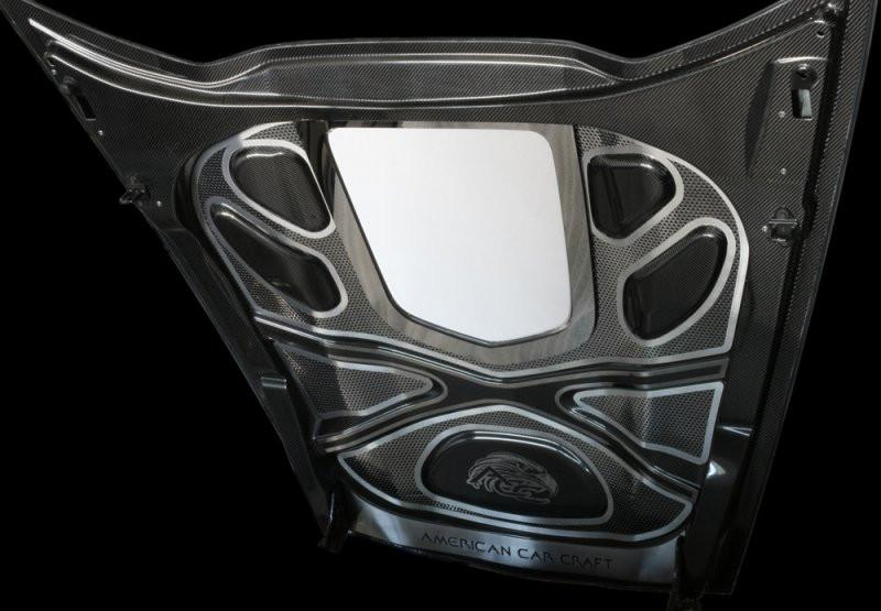 Corvette Center Hood X Frame Brace Polished 2009-2012 ZR1 ONLY American Car Craft